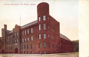 St Paul Minnesota~National Guard Aermory~Corner Turret (No Battlements) 1906 UDB