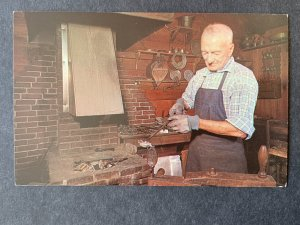 Pewterer At Old Sturbridge Village Sturbridge MA Chrome Postcard H1176084356