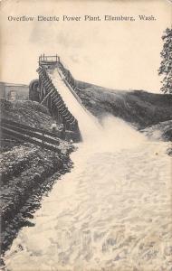 Ellensburg Washington~Electric Power Plant~Overflow Chute~Lady & Gent~1910 PC