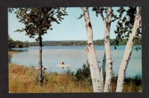 MI Susan Lake Charlevoix County MICHIGAN Postcard Boats