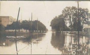 RP: UNION CITY , Michigan , 1900-10s ; Kirby Street , Looking East , Flood
