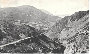 Wales  -  Sychant Pass Dwygyfylchi Caernavonshire  posted 1919 #128