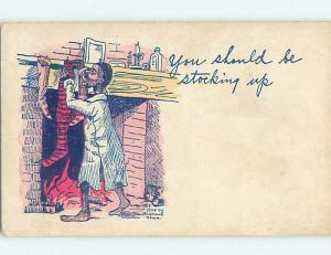 Pre-Linen black americana postcard HL6751