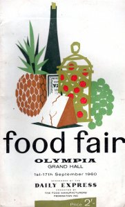 Food Fair Olympia Grand Hall 1960 Daily Express Cookery Exhibition Book