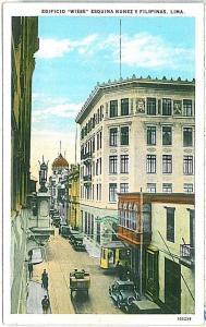 VINTAGE POSTCARD: PERU - LIMA 1925