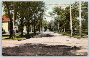 Kewanee Illinois~Looking West at Prospect Street Homes~Cross Trolley Tracks~1910
