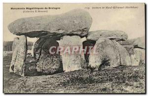 Old Postcard Dolmen Megalith megalithic monuments of Brittany Dolmen of Mane ...