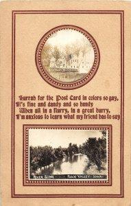 G39/ Rock Valley Iowa RPPC Postcard c1910 2View High School River