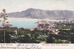 Panorama Dalla Villa Belmonte, Palermo (Sicily), Italy, PU-1908