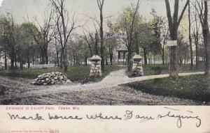 Wisconsin Tomah Entrance To Gillett Park 1909