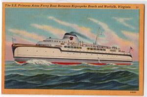 SS Princess Anne Ferry, Norfolk VA