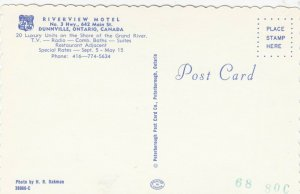 DUNNVILLE , Ontario, 1950-60s ; Riverview Motel