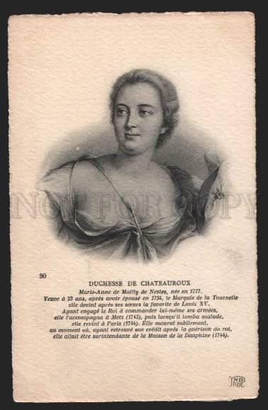116486 Duchesse de CHATEAUROUX mistress of Louis XV of France