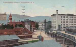 BINGHAMTON, New York, PU-1910; View Showing Viaduct