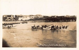 Ghana Gold Coast Accra landing from surf boats 1934 RP Postcard
