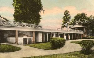 VA - Charlottesville. Monticello, North Terrace Building (Albertype, hand col...
