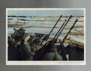 Mint WW2 Germany Army Wehrmacht 20mm Quad AA Anti Aircraft RPPC Postcard