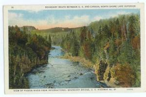Linen of Pigeon River from International Bridge MN-Canada