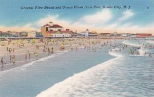 New Jersey Ocean City General View Of Beach and Ocean Front From Pier