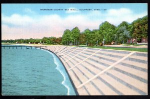 Mississippi GULFPORT Harrison County Sea Wall cost $3,5000,000 - Linen