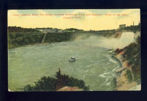 Niagara Falls, New York/NY Postcard, American Falls & 'Maid Of The Mist'