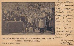 Italy Inaugurazione Della III Esposizione Internazionale D'Arte Venezia 04.38