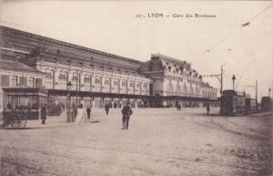 Train, Gare des Brotteaux, Lyon, France, 1900-10s