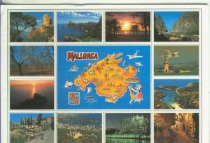 Postal 5230 : Vistas varias de Mallorca con plano isla