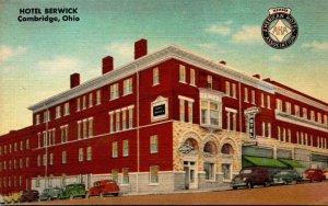 Ohio Cambridge Hotel Berwick 1951