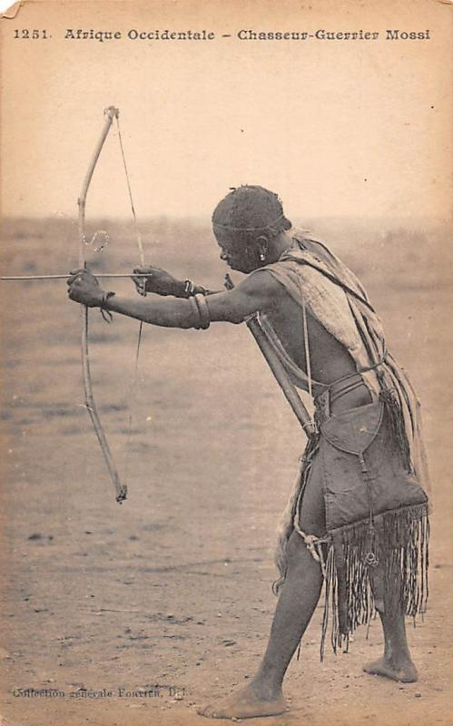 Afrique Occidentale - Mali Chasseur-Guerrier Mossi, Warrior Hunter Arrow Bow