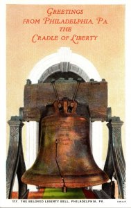 Pennsylvania Philadelphia Greetings With Liberty Bell Curteich