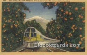 Streamliner, California, CA USA Trains, Railroads Postcard Post Card Old Vint...