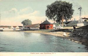 Providence Rhode Island~Field's Point~Wind Vane~c1910 Postcard