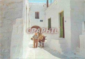 Modern Postcard Paros picturesque alley