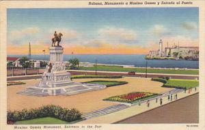 Cuba Havana Maximo Gomez Monument Entrance To The Port