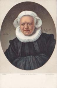 Portrait Of An Old Lady Rembrandt London