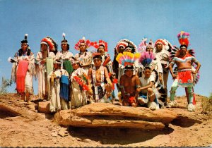 Indians At Ceremonial Dress At Gallup Intertribal Ceremonials New Mexico