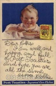 Post Toasties Improved Corn Flakes Advertising Post Card Post Card  Post Toas...