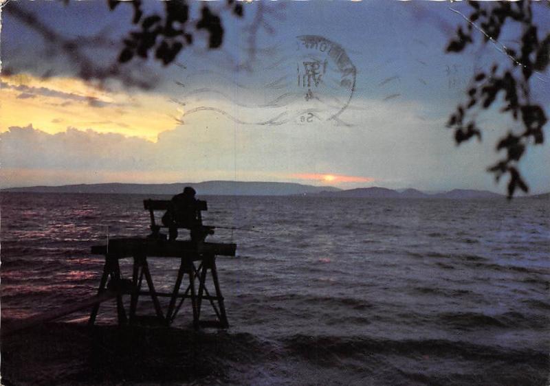 Hungary Plattensee Lake Balaton Sunset