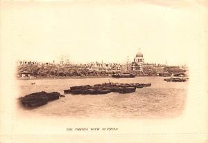 London United Kingdom, Great Britain, England Thames with St Pauls London Tha...
