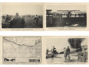 VOYAGE DE COSTE ET LE BRIE BOURGET FRANCE 1928 AIRCRAFT 11 CPA