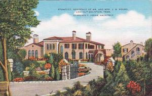 Tennesse Lookout Mountain Stonedge Residence Of Mr And Mrs J B Pound