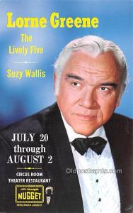 Lorne Greene, The Lively Five, Suzy Wallis Movie Star Actor Actress Film Star...