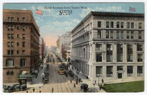 Seattle, U.S.A., Third Avenue from Yesler Way