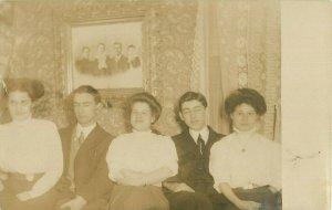 Postcard RPPC Family Sitting