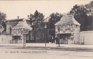 BERLIN W., Eingang zum Zoolegischen Garten, Germany,  00-10s