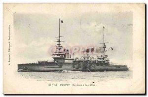Old Postcard Boat War Bouvet has turrets Breastplate