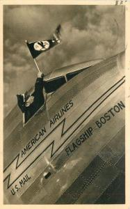 American Airline Advertising 1940s RPPC Photo Postcard 11322