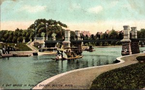 Massachusetts Boston Bridge In Public Garden 1910