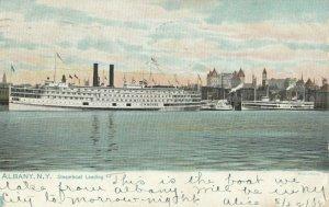 ALBANY, New York, 1908 ; Steamboat Landing ; TUCK 2432